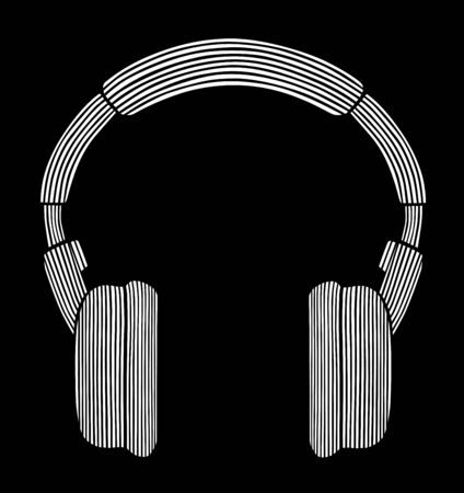 headset symbol: Styled headphones