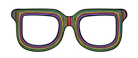 Styled rainbow sunglasses