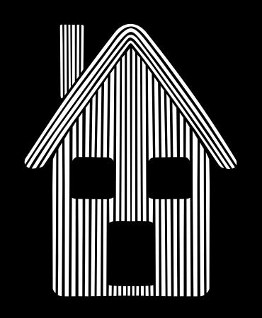 Styled house  Illustration