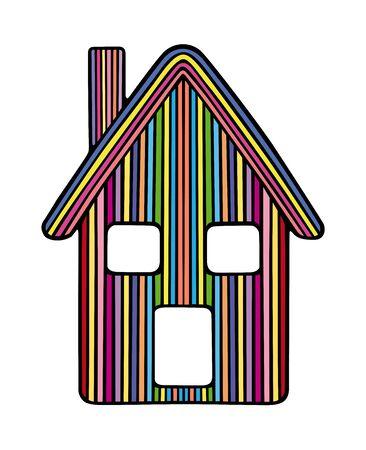 Styled rainbow house