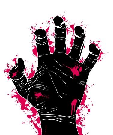 agression: R�sum� de l'agression, illustration vectorielle