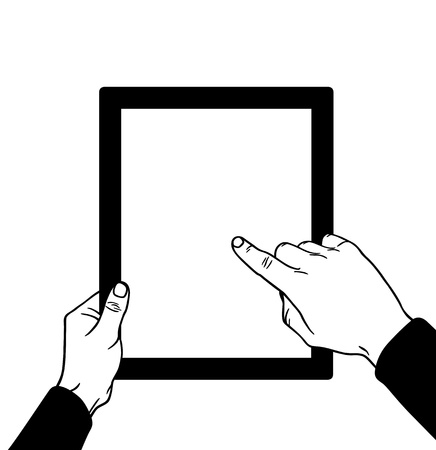 input device: Hands with the touch, vector illustration Illustration