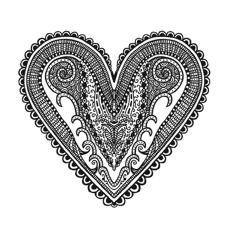 Hand drawn heart, illustration design element Illustration