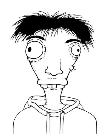 Individual boy, cartoon illustration Ilustração
