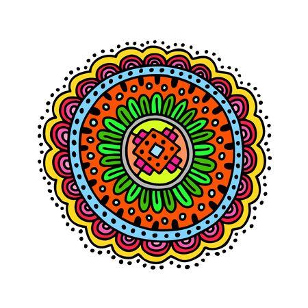 hemp: Hand drawn circle, vector decoration