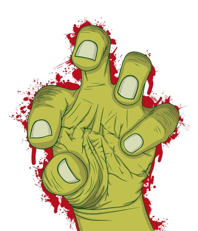 world war one: Hand of zombie, vector illustration