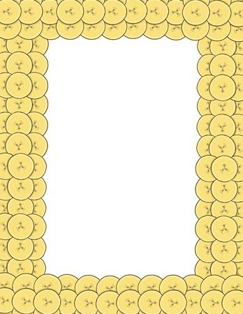 manic: Background of banana, vector illustration