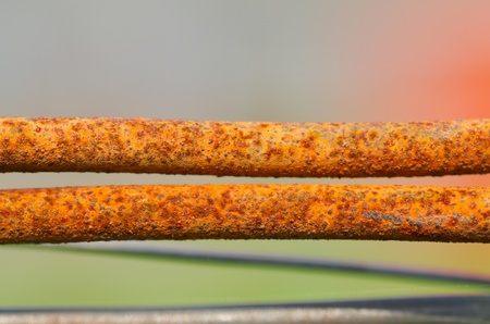 Rusted wire Stock Photo