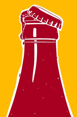 Fruitig ijs bier, vector illustratie