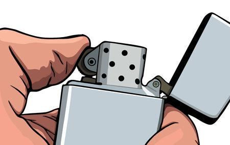 gas lighter: Graphic Cigarette lighter, vector illustration