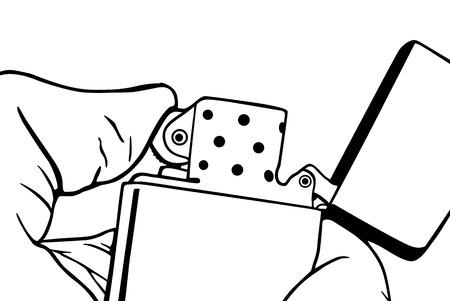 ljusare: Graphic Cigarette lighter, vector illustration