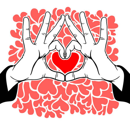 Hands symbolic love  Vector