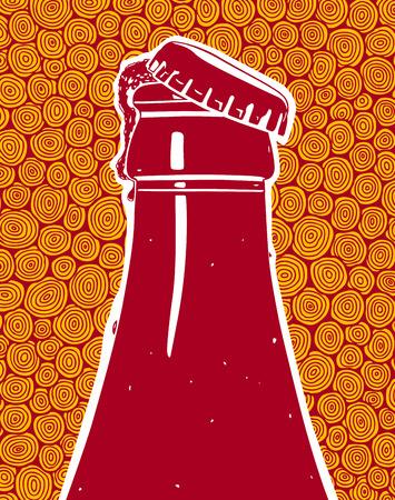 frutoso: Frutado cerveja gelada Ilustração
