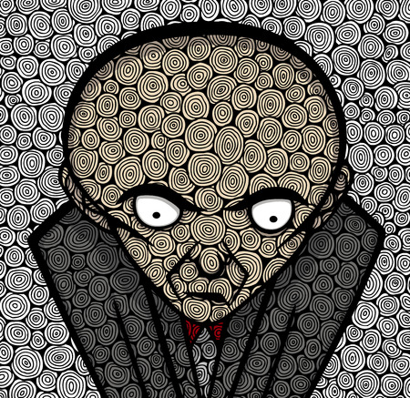 one man only: Boss in texture Illustration