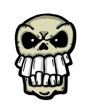 Angry painted skull, vector illustration  Vector