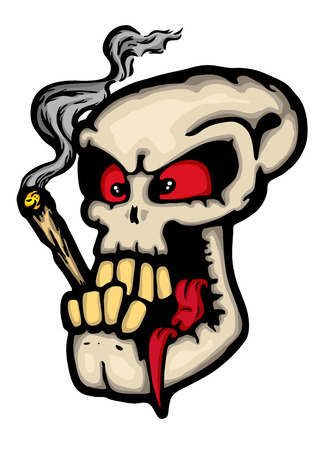 Skull wit joint, vector illustration  Vector
