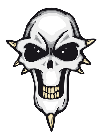 Angry painted skull, vector illustration  Stock Vector - 26362178