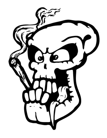 skull vector: Skull wit joint, vector illustration