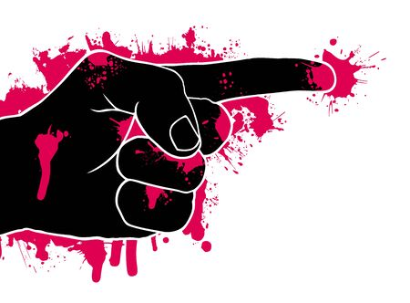 Abstract of aggression, vector illustration Vector
