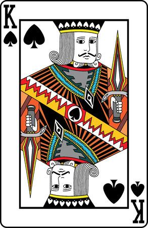 segurar: Rei das pás cartão de jogo, ilustração vetorial