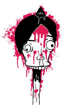 Dead man, vector illustration, painted Ilustração