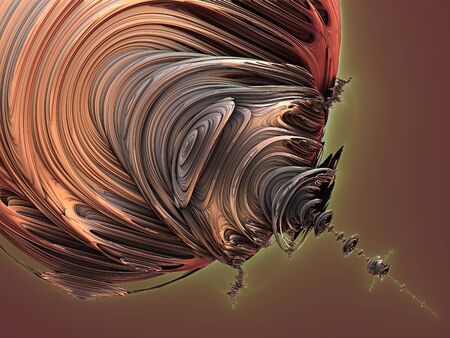 Abstract brown wavy lines background Stock Photo