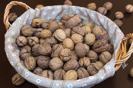 Filbert-nuts in basket