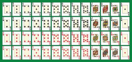 Full deck, all in one set, in th vector 版權商用圖片 - 92228010