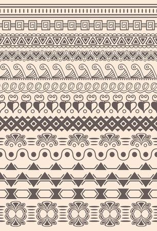 Seamless tribal elements vector illustration