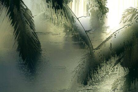 filtered: island landscape illustration