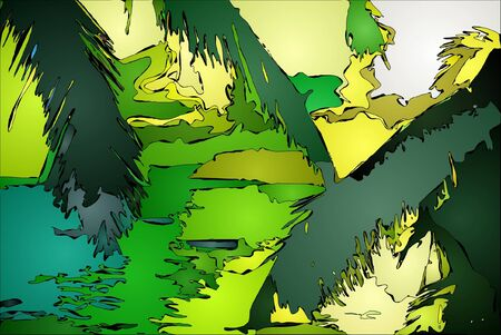 eilandlandschap afbeelding 2 Stock Illustratie