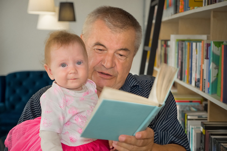 Knowledge and book. Happy family. Essential values.