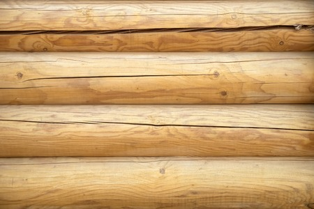 Wood log wall background. Wooden texture background Wall of blockhouse