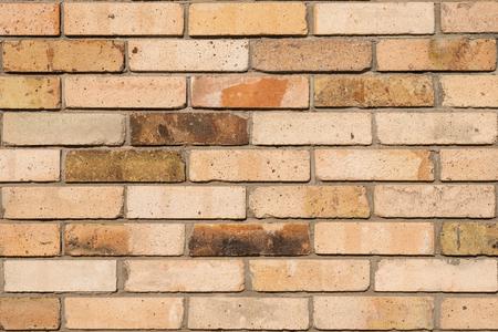 Faded brick wall background. Colored bricks facade.