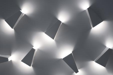 Light fixtures, unusual ceiling lamps. Modern design lighting.