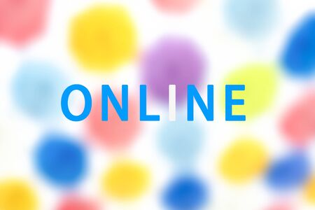 Expanding business online. Online background. Keep in touch online, Quarantine concept. Watch online background. Stay informed, watch online. Event transmission online due to coronavirus pandemic