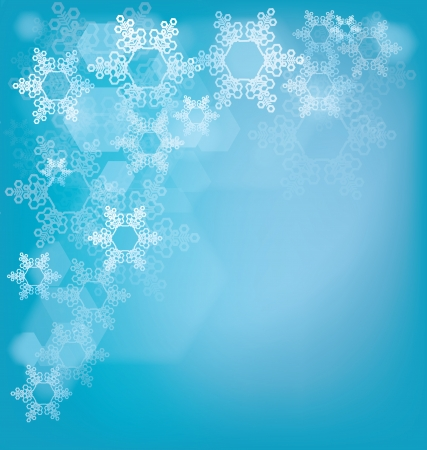 frosted: Christmas frosted glass background with snowflakes and bokeh effect