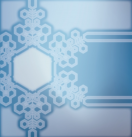frosted: Christmas frosted glass background with snowflakes