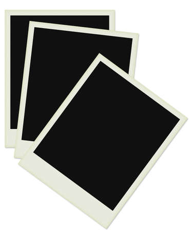 Three photos in white backgrounds. Stock Photo
