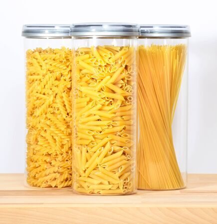Pasta in a jar Stock Photo