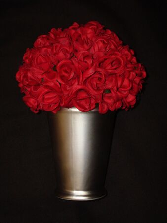 Rose Bouquet In Silver Vase