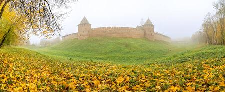 Novgorod Kremlin in the fog photo
