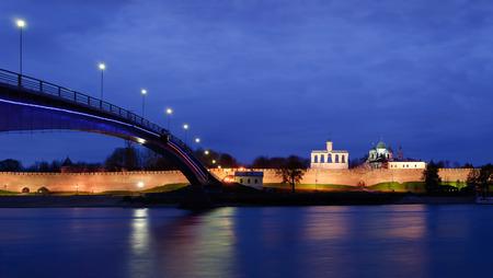 View on Novgorod Kremlin at night photo