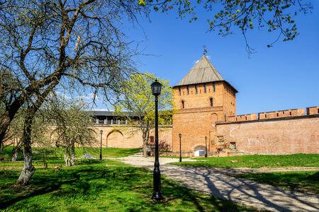 novgorod: Vladimir Tower Novgorod Kremlin, veliky Novgorod Editorial
