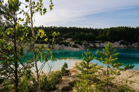 kaolin: Kaolin quarry locally named Bali, Kyshtym, South Ural, Russia Stock Photo