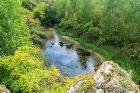 chelyabinsk: Ustinovskii Canyon, Southern Urals Stock Photo