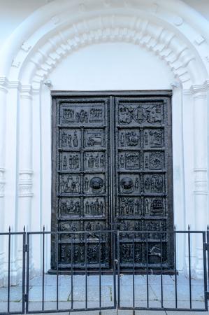 Bronze gates of St. Sophia Cathedral,Veliky Novgorod photo