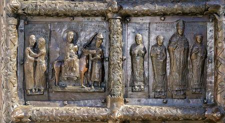 Detail of the bronze gates of St. Sophia Cathedral,Veliky Novgorod photo