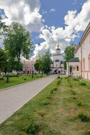 renunciation: Refectory with the Church of the Epiphany in the Valdai Iver Monastery