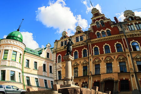 town hall square: Town Hall Square in Vyborg, fish-eye effect
